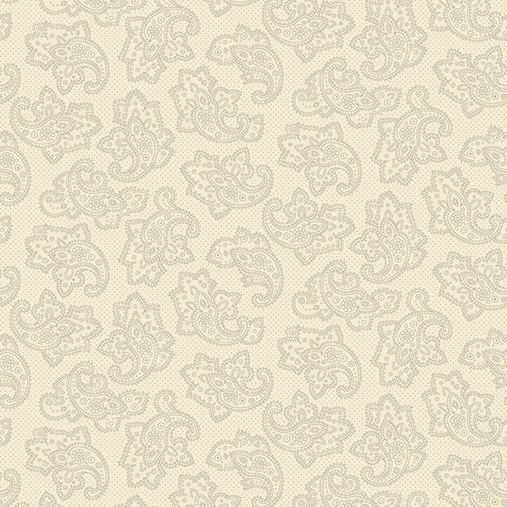 Gratitude & Grace - Cream Dotted Paisley