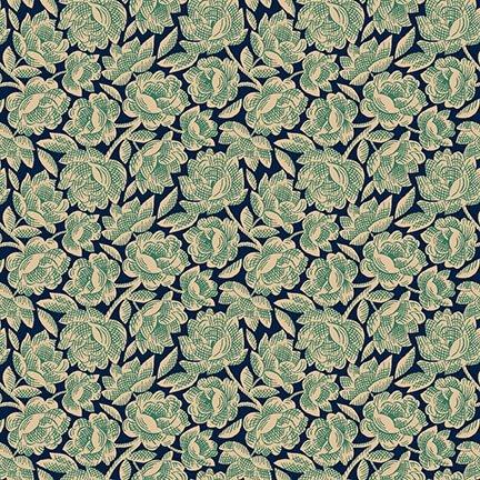 Gratitude & Grace - Blue Vintage Floral