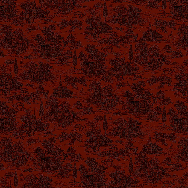 Farmhouse Christmas - Red Toile