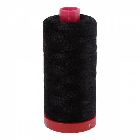 Aurifil 12wt Lana Wool - Black (8692)