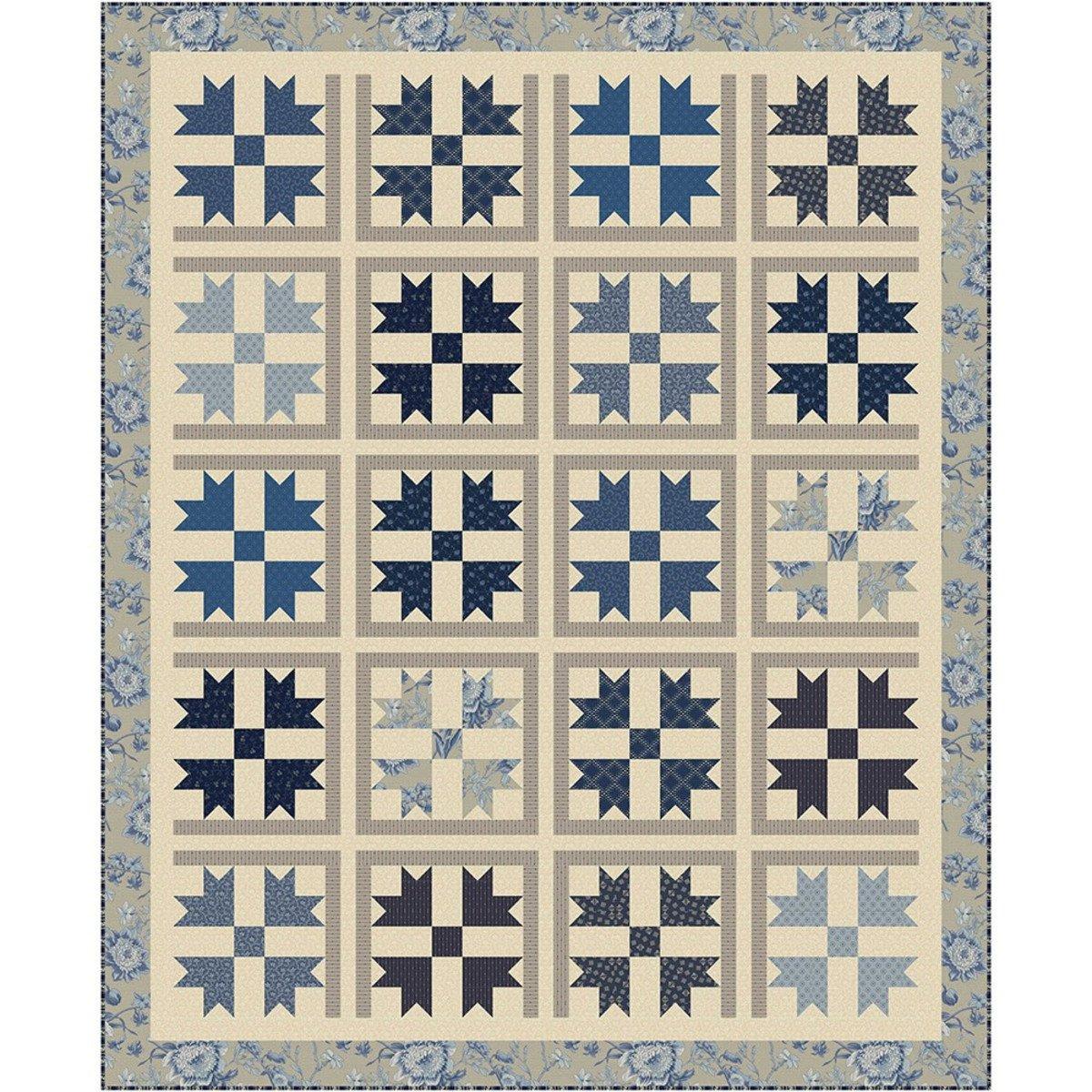Blue Beauties Quilt Kit - PREORDER