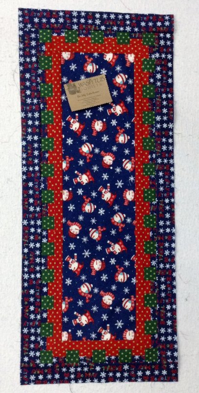 Waffle Time  - Snowman Table Runner