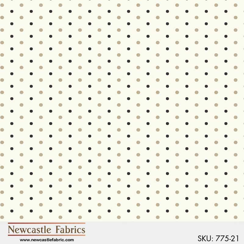 Margo's Favorite Shirtings - Tan Medium Multi Dot