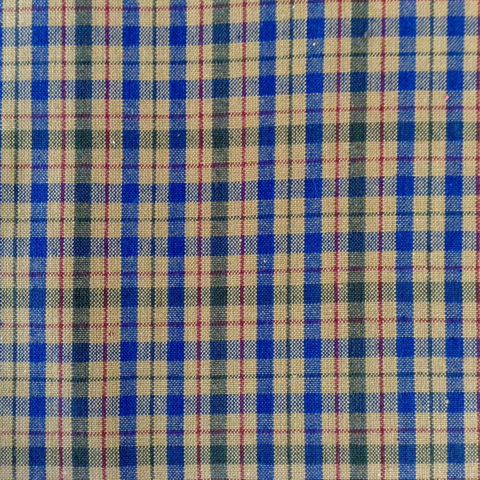 Prairie Wovens  - Blue & Green on Tan