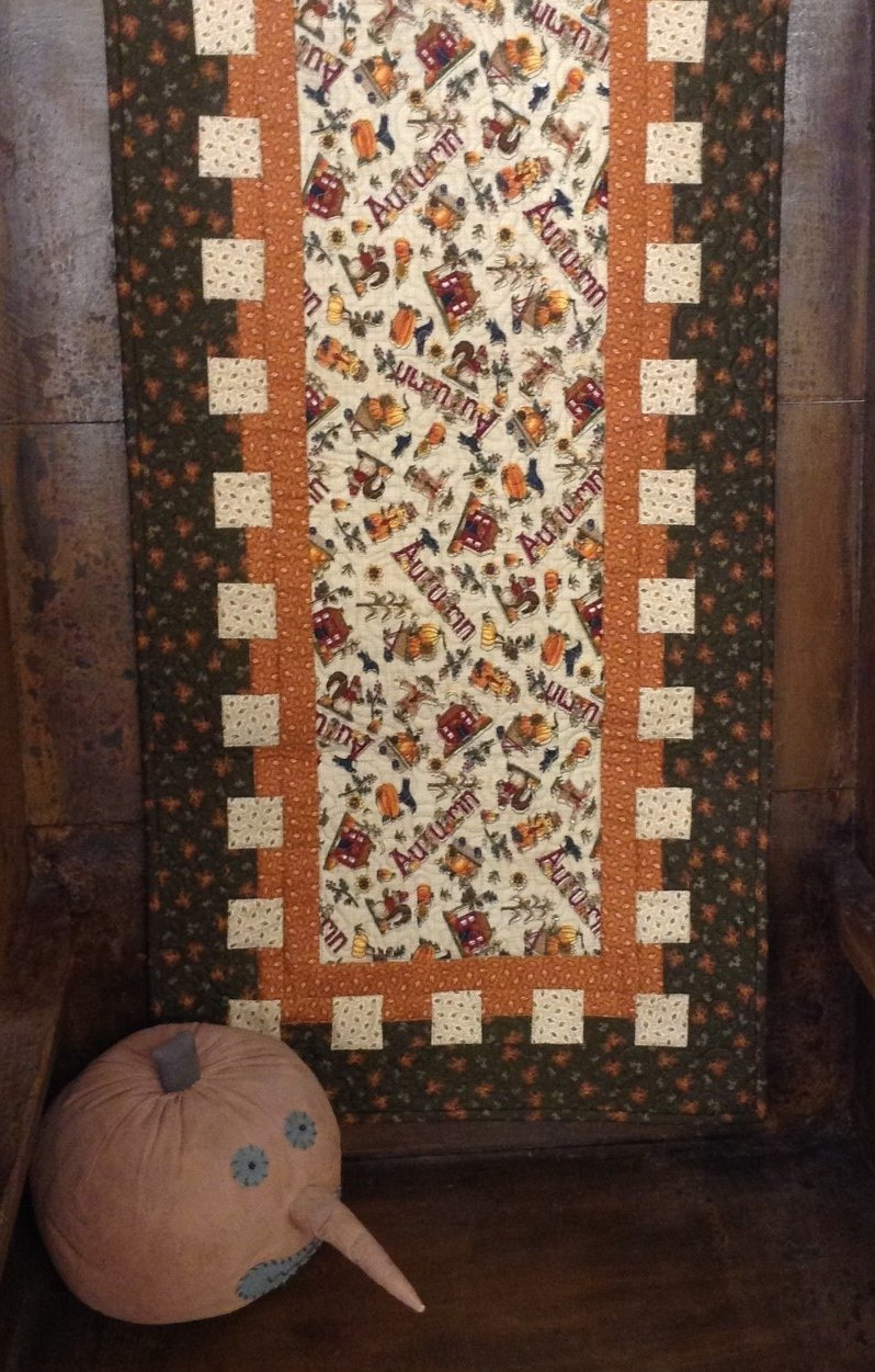 Waffle Time  - Autumn Table Runner