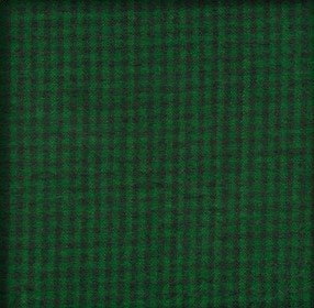 Brushed Cotton  - Green & Black Plaid