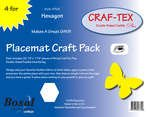 Placemat Craft Pack Hexagon Placemat Craft Pack Hexagon