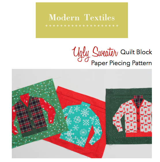Ugly Sweater Quilt Block Pattern