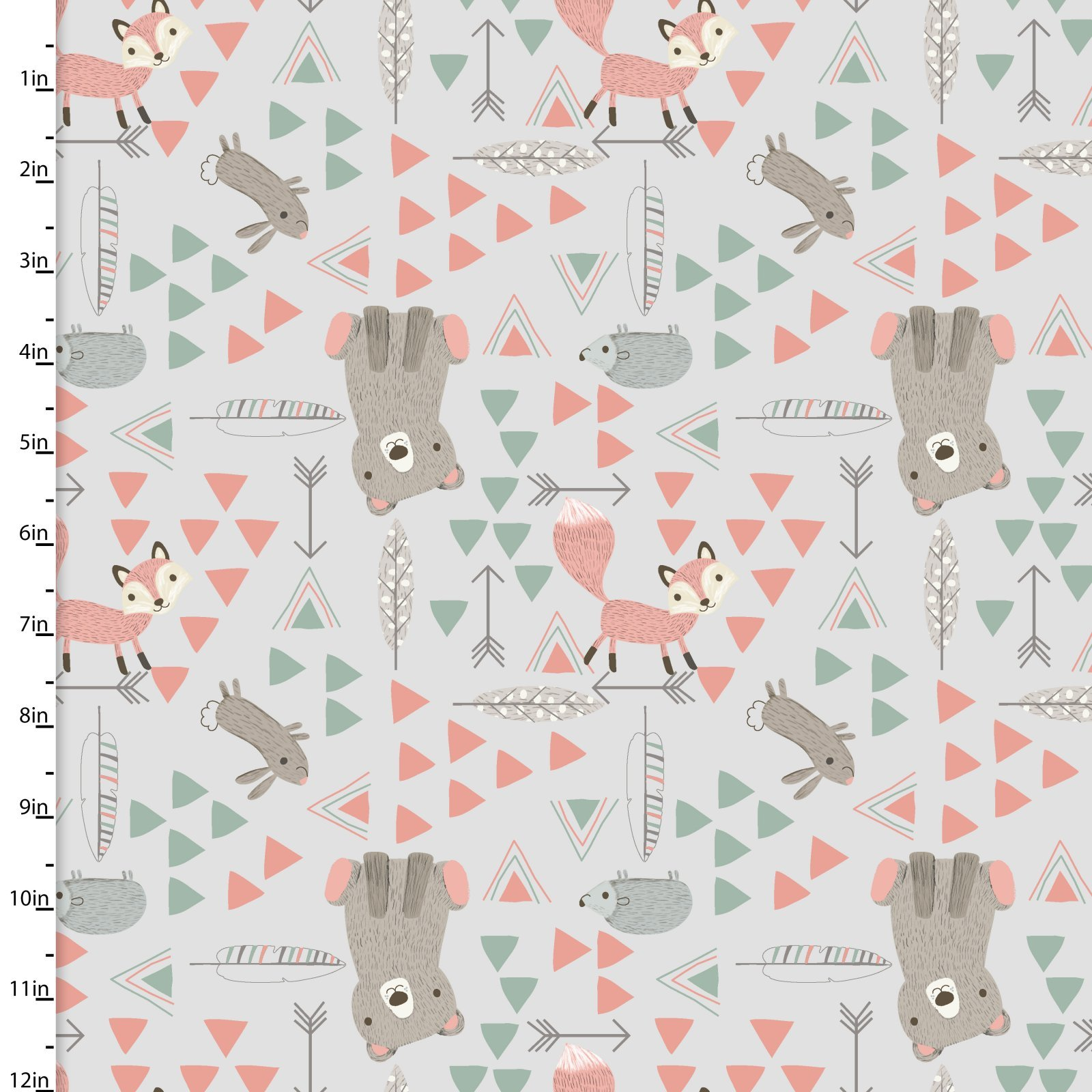 Little Ones-Lo Triangle Friends Grey