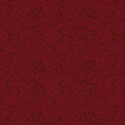 TONAL SNOWFLAKE DARK RED 02649