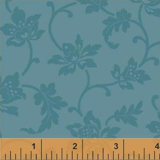 Color Wall-Blue Jacobean Flower-50654-3