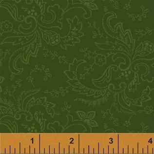 Color Wall-Green Paisley-50658-2