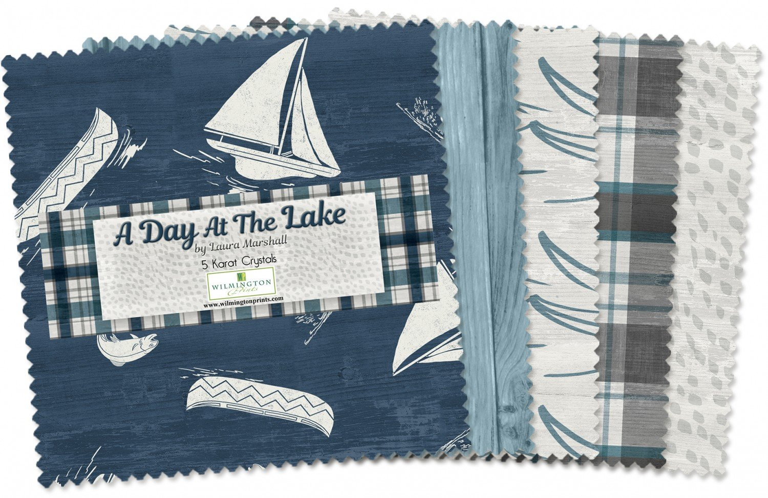 A Day at the Lake-5 inch squares-550-508