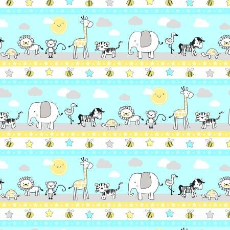 Little Sunshine-Border Stripe-70438-751