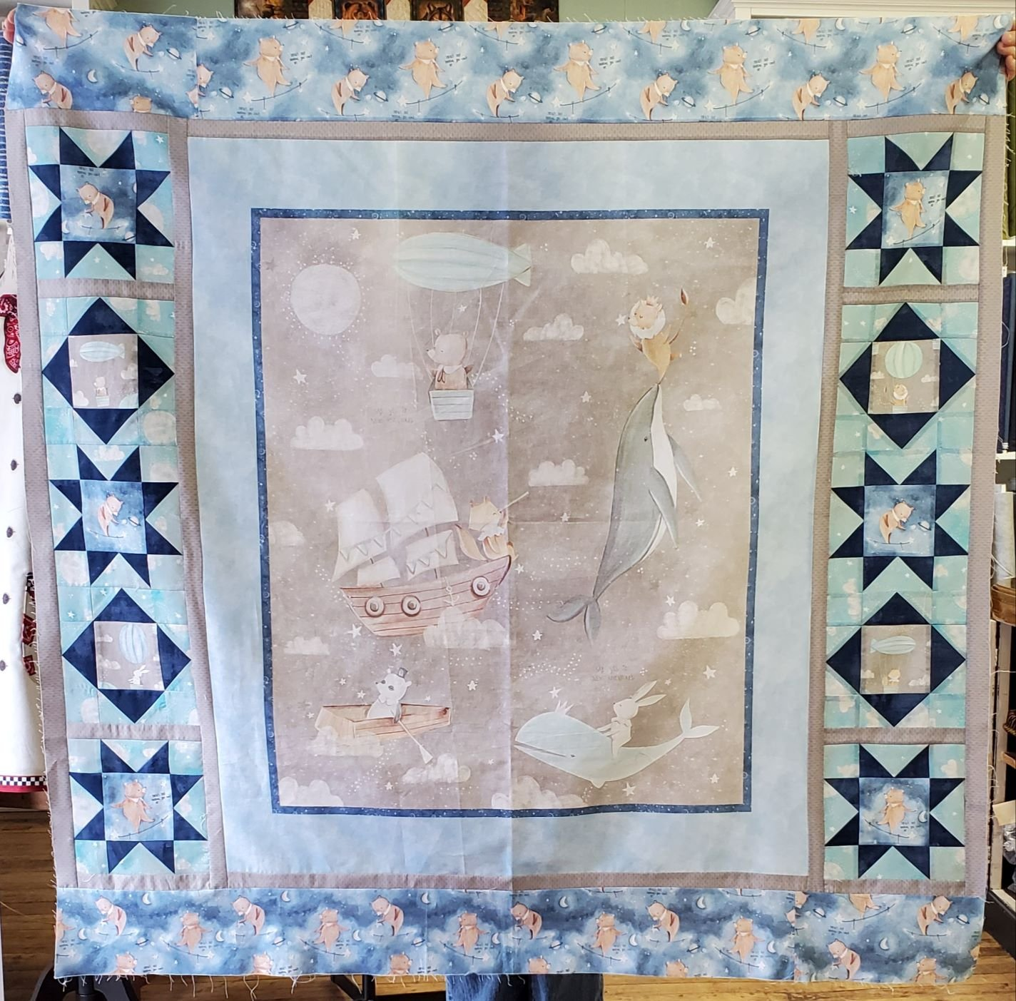Adventures In The Sky Quilt Kit