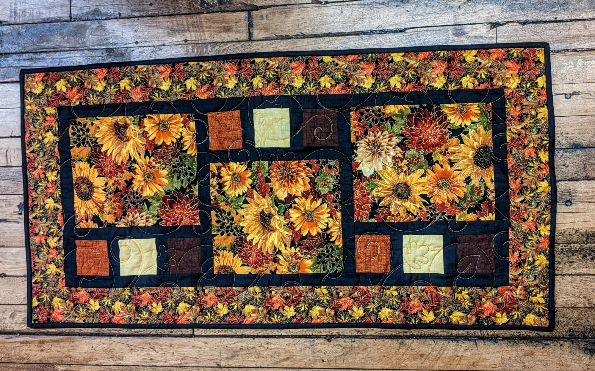 Autumn Sunflower Tablerunner Kit