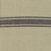 TOWEL FABRIC - TAN W/ BLACK STRIPE