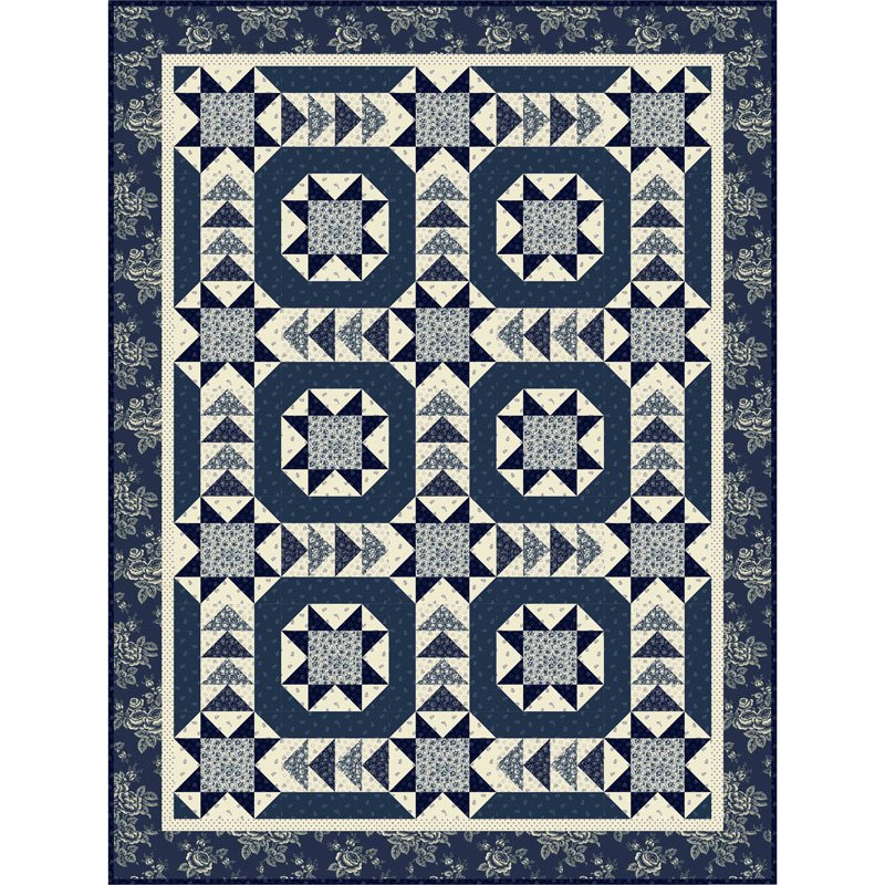 Blue Boardwalk Quilt Kit
