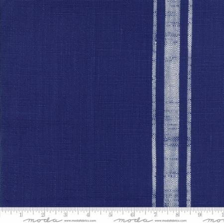 TOWEL FABRIC - BLUE PLATE W/CREAM