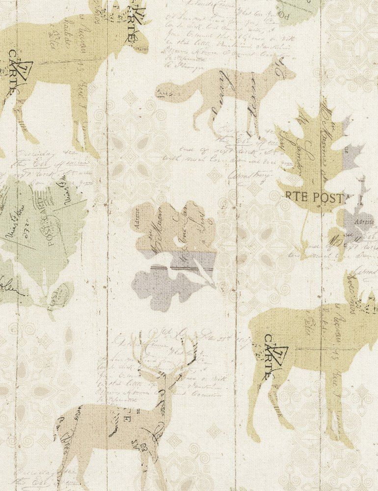 Woodland Animal Silhouettes-C5257-Cream