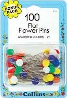 Collins Flat Flower Pins 100ct-155