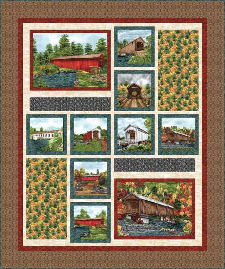 Covered Bridges Quilt Kit