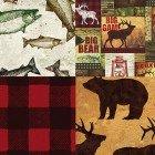 Fat Quarter Bundle Elk Mountain 10pcs-FQ0074