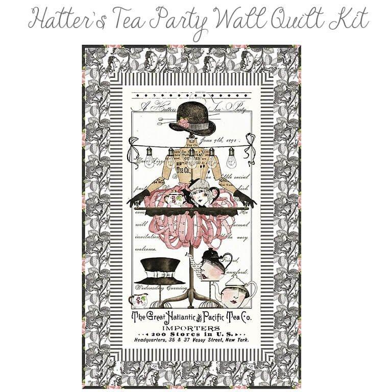 Hatters Tea Party Quilt Kit