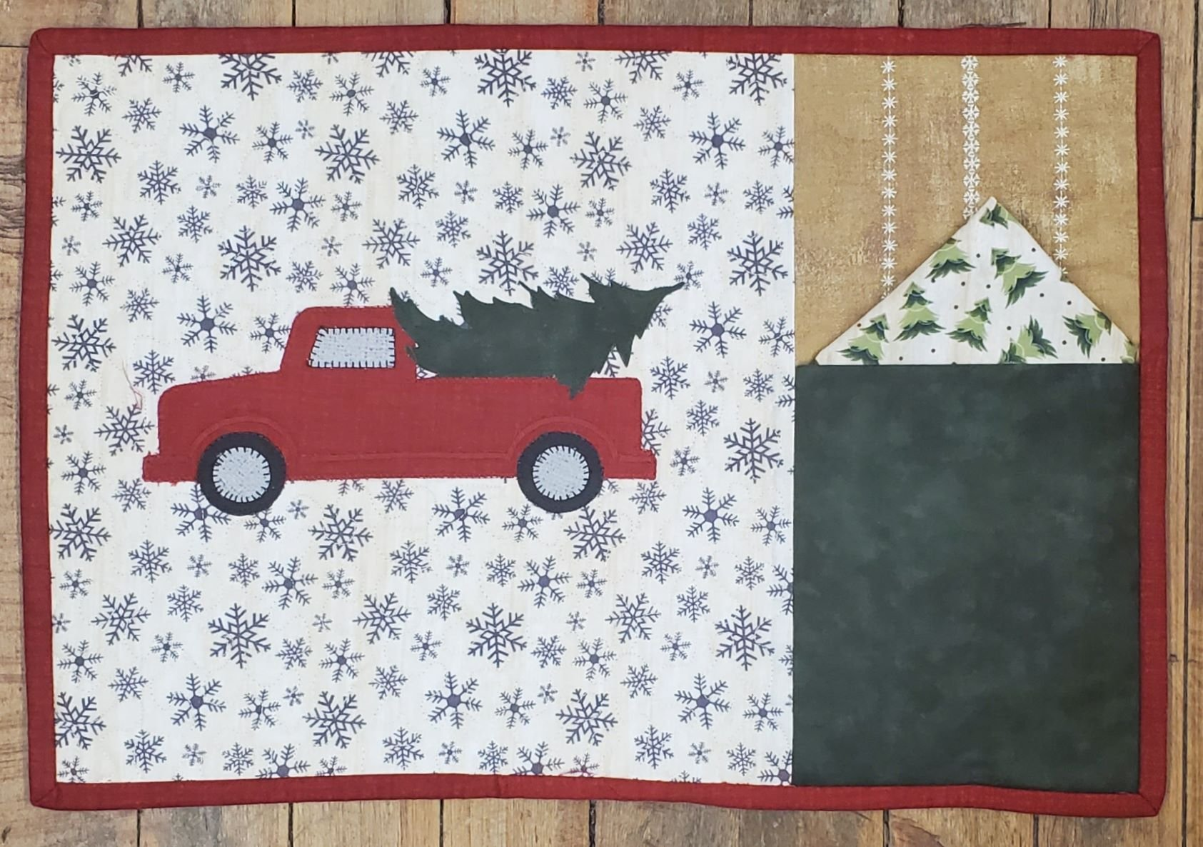 Little Red Truck Placemat Kit