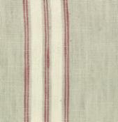 TOWEL FABRIC - RED AND CREAM STRIPE
