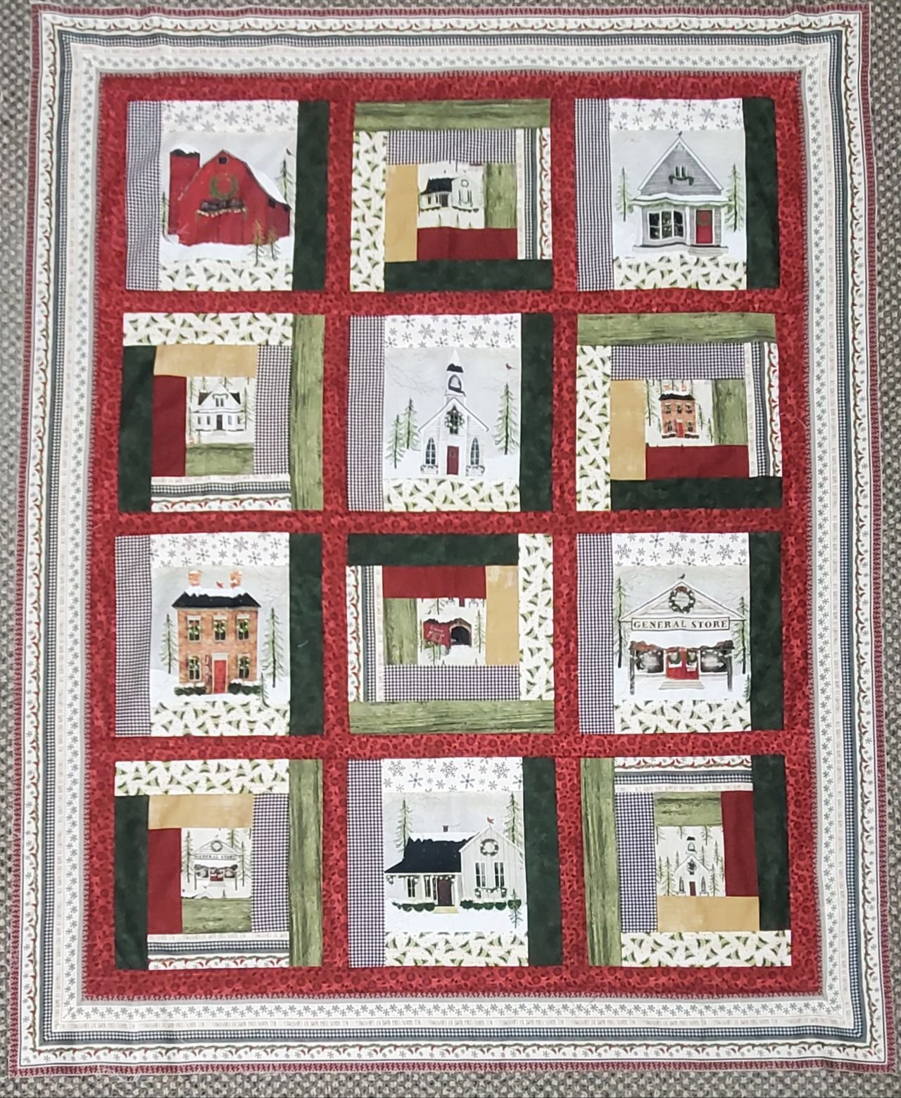Snow Village Quilt Kit