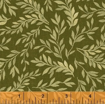 GREEN VINE LEAF 108 QUILT BACK