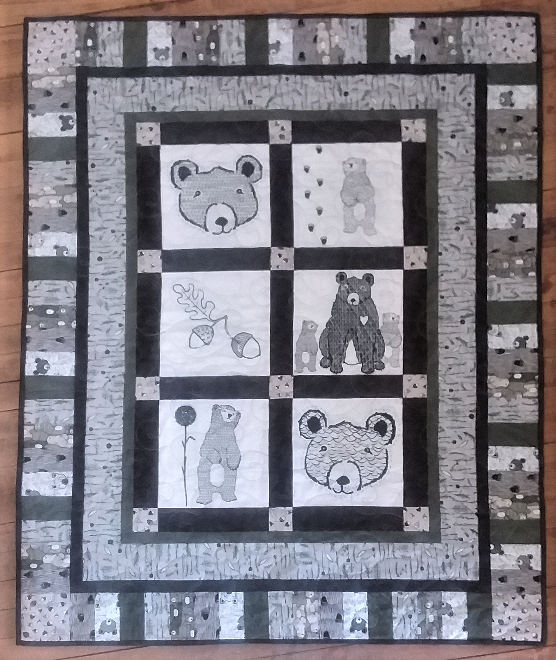 Wolly Bear Boy Quilt Kit