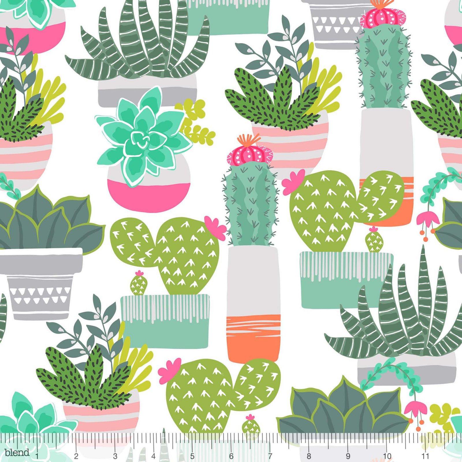 Desert Succulents White - 101.148.01.2