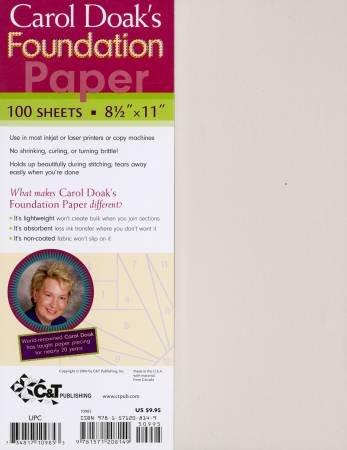 Carol Doak's Foundation Paper 8.5 X 11