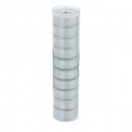 12958-L-F Clear-Quilt Pre-wound Class L 67yd Bobbins Light Gray 10 Count