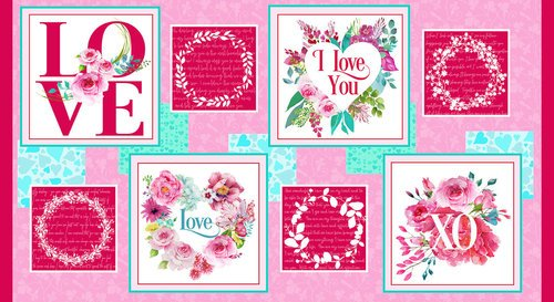 Q-1856-22 Love Letters Panel 24XWOF