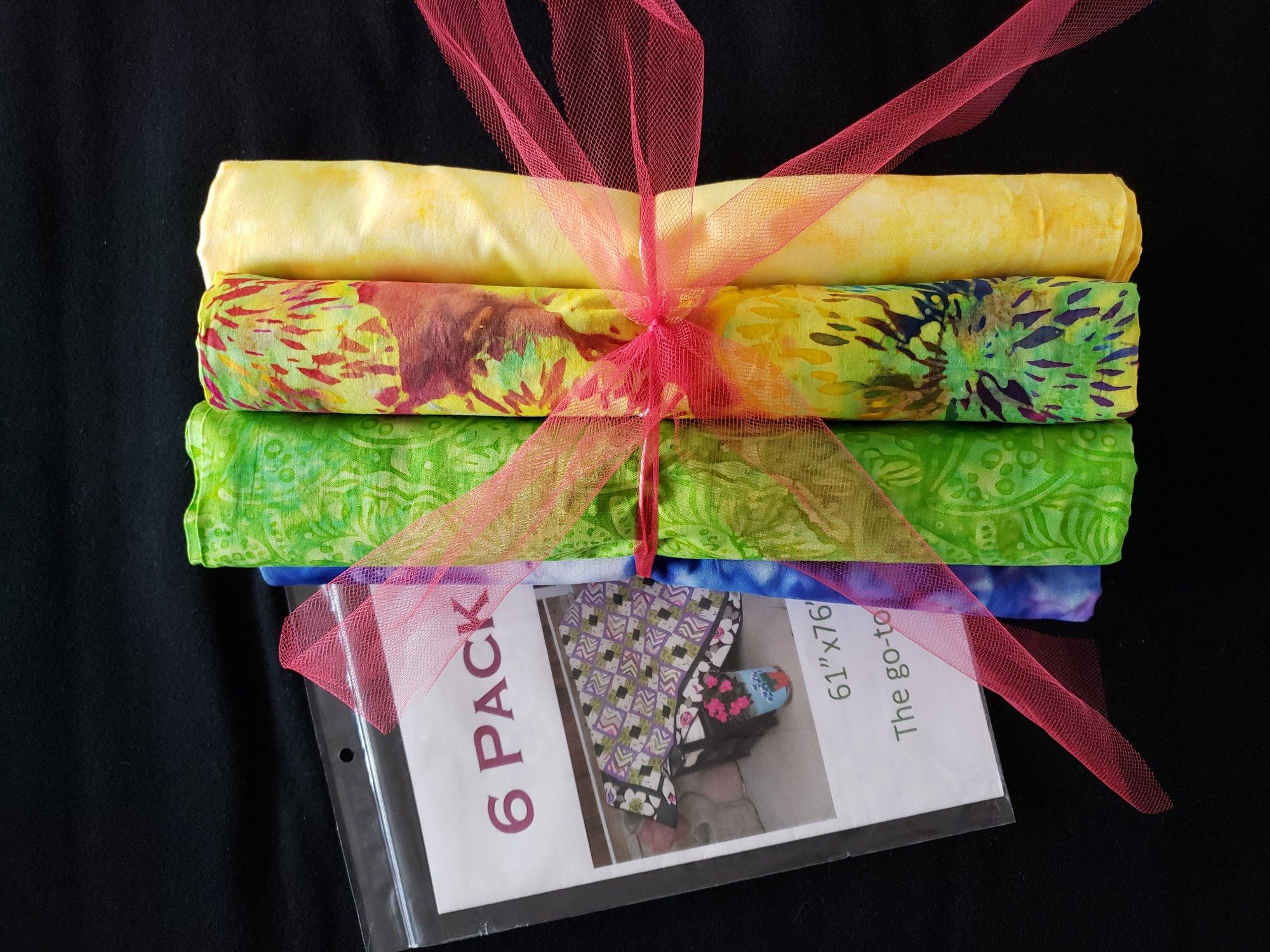 6 Pack Quilt Kit w/ Pattern - Batiks
