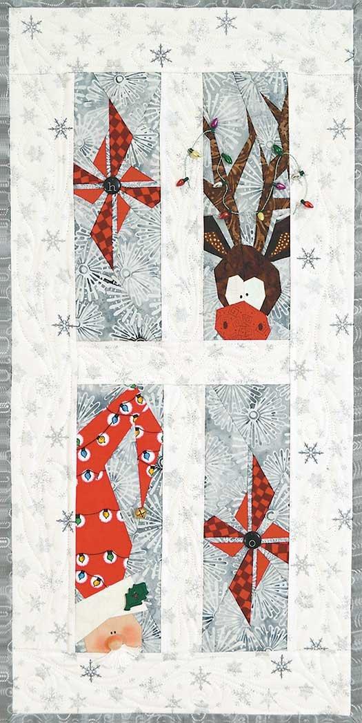 4128 - Pinwheel Santa -Stitch by Number
