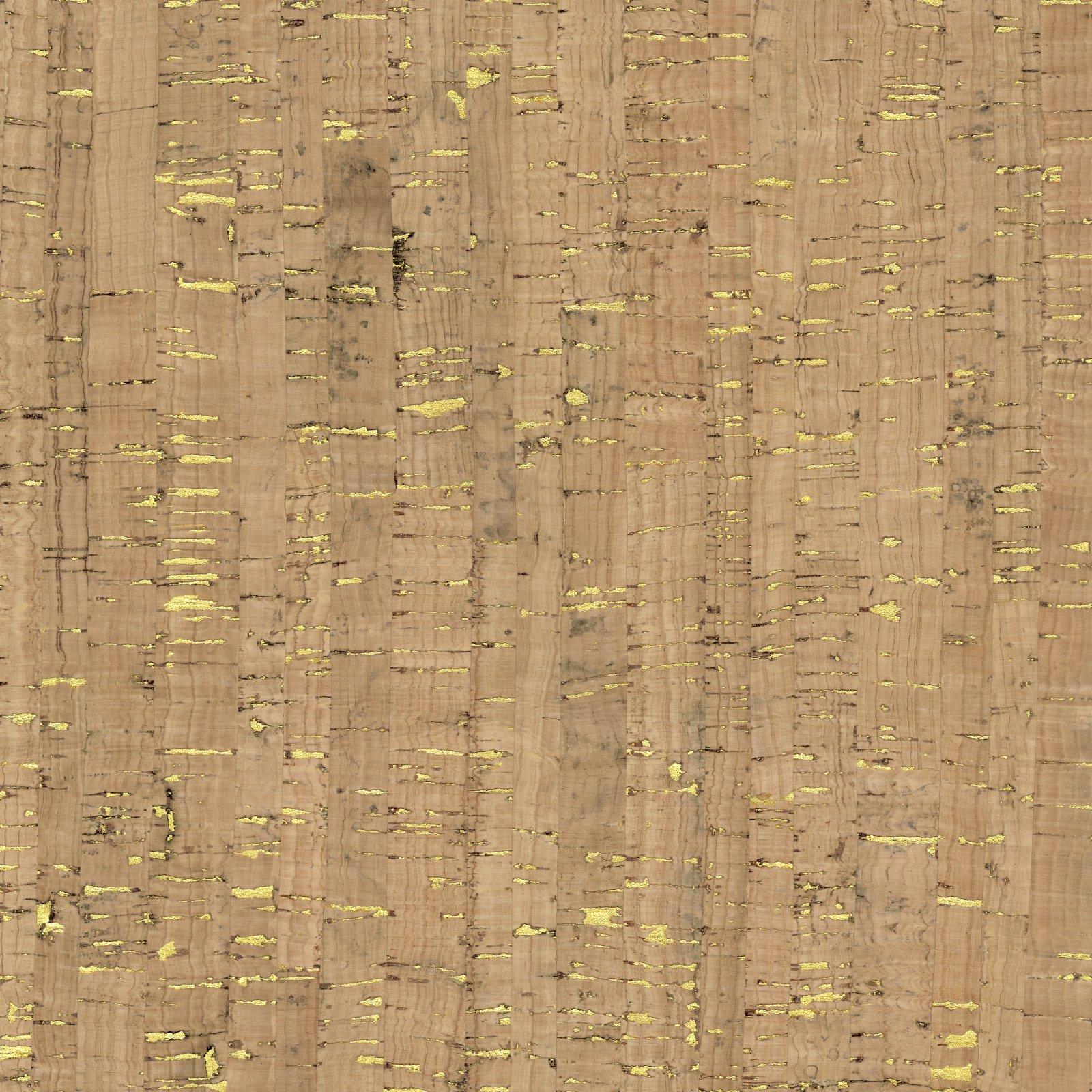 Natural Cork Fabric 18x52 - w/ Gold Flecks