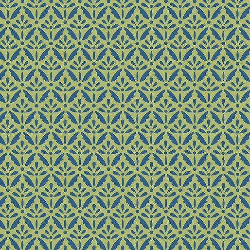 6806-48 HOME GROWN FLORET BLUE/GREEN