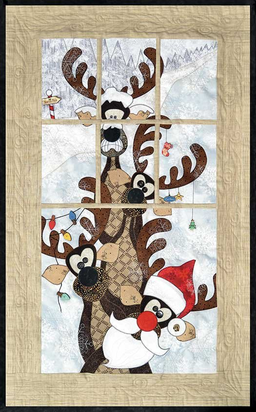 802-Reindeer Games Window Panel Pattern
