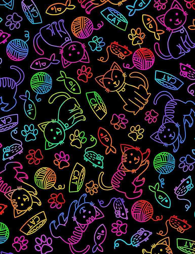 C7037-Bright Rainbow Pets / Cat and Mouse