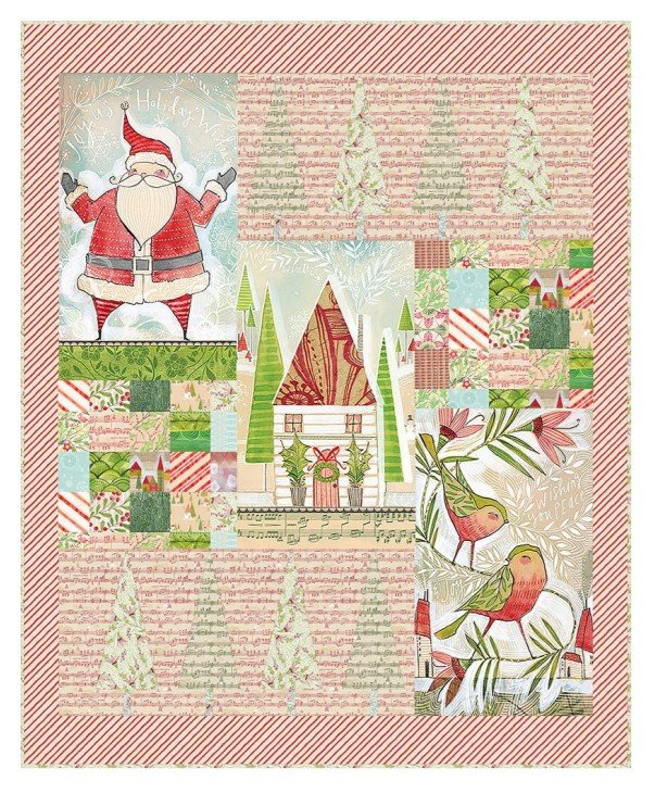 Deck the Halls Quilt Kit - Holly Jolly Collection