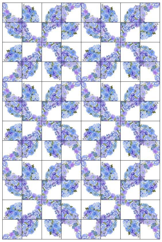 Karen's Garden Drunkard's Path Pattern