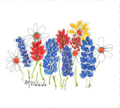 Watercolor on Kona- Spring Meadow Perfect