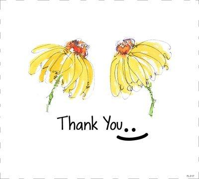 FL317 Yellow Flower Thank You