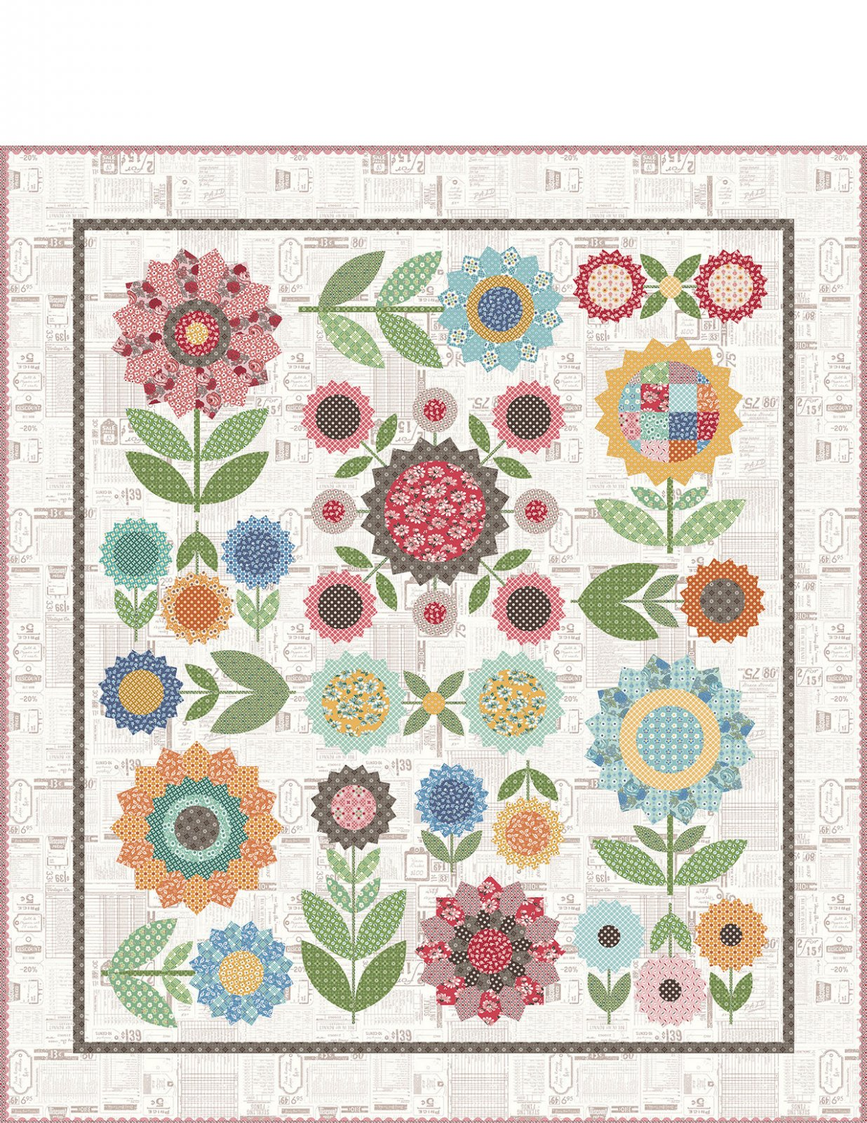 PRE-ORDER Kit for Lori Holt Sew Along Featuring Flea Market Fabric Collection