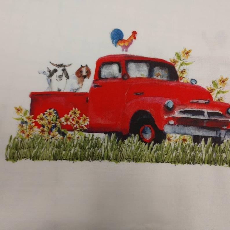 Watercolor on Kona- Red Truck