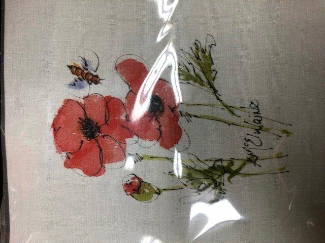 Poppy Watercolor on Kona #2